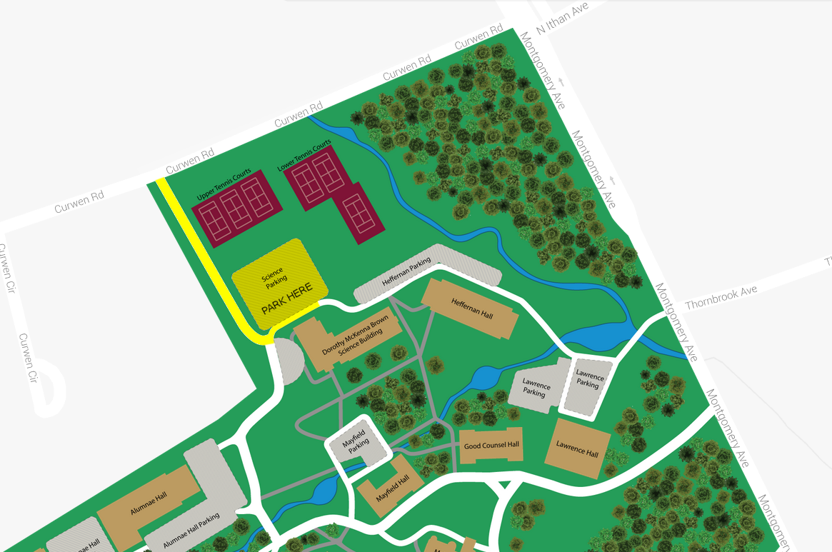 rosemont college campus map Map Directions Tri County Concerts Association rosemont college campus map
