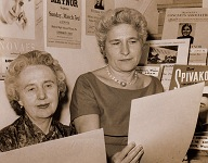 Mrs. (Guida) Morton Smith and Sylvia Wexler