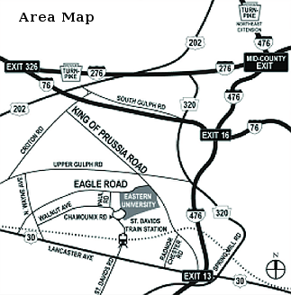 Eastern Univ Area Map